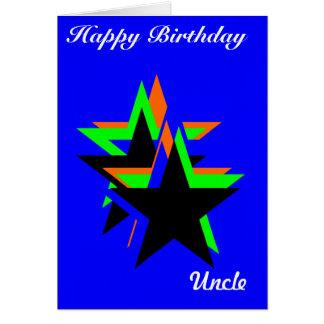 Cartões do tio do feliz aniversario