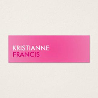 Cartões do tom do rosa dois mini