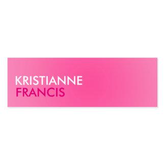 Cartões do tom do rosa dois mini cartão de visita skinny