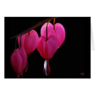 Cartões do vazio do coração de sangramento