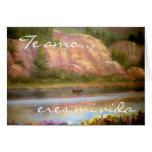 Cartões do vida do MI dos eres de Te amo…