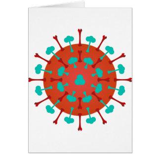 Cartões do vírus da gripe
