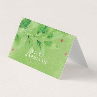Cartões dobrados do lugar dos ramos cartões