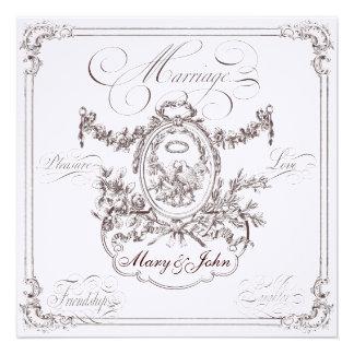 Cartões dos convites do casamento do casamento
