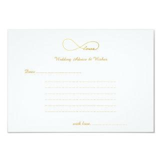 Cartões dos desejos & do conselho do casamento da convite 8.89 x 12.7cm