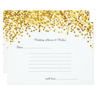 Cartões dos desejos & do conselho do casamento dos convite 8.89 x 12.7cm