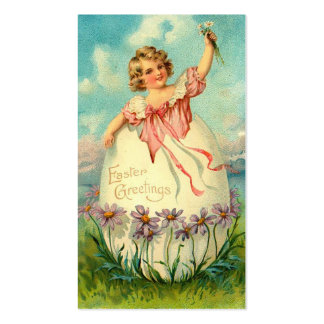 Cartões dos Doodles do feriado da páscoa do vintag Modelo Cartoes De Visitas