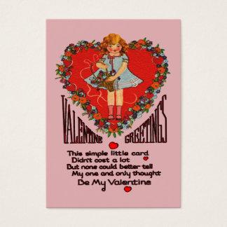 Cartão De Visitas Cartões dos miúdos da grinalda & da menina do