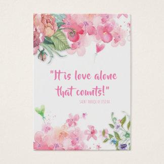 Cartões dos namorados das citações do St. Therese