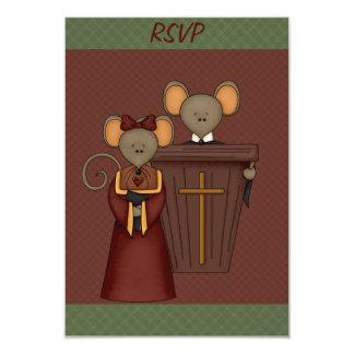 Cartões dos ratos de igreja RSVP do país Convite 8.89 X 12.7cm