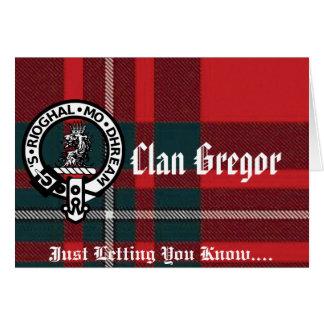 Cartões e envelopes de nota de Gregor!