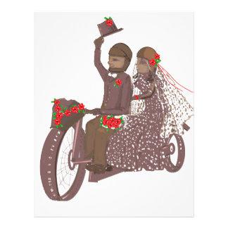 Cartões e produtos de casamento do motociclista da papel de carta personalizados