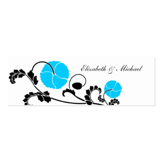 Cartões elegantes da lista de presentes da papoila cartao de visita
