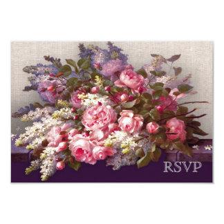 Cartões elegantes da resposta do design da pintura convite 8.89 x 12.7cm