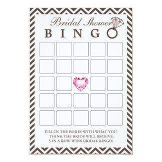 Cartões elegantes do Bingo do chá de panela de Convite 8.89 X 12.7cm