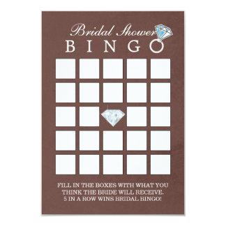 Cartões elegantes do Bingo do chá de panela do Convite 8.89 X 12.7cm