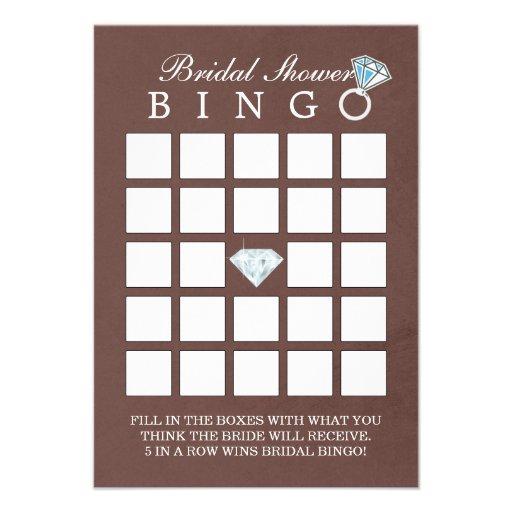 Cartões elegantes do Bingo do chá de panela do dia Convites Personalizado