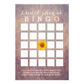 Cartões elegantes do Bingo do chá de panela do gir