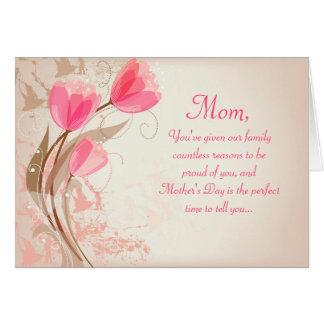 Cartões elegantes do dia das mães