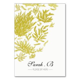 Cartões elegantes do lugar do casamento do ouro