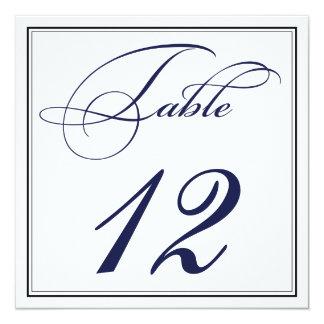 Cartões elegantes do número da mesa do roteiro dos