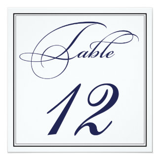Cartões elegantes do número da mesa do roteiro dos convite quadrado 13.35 x 13.35cm