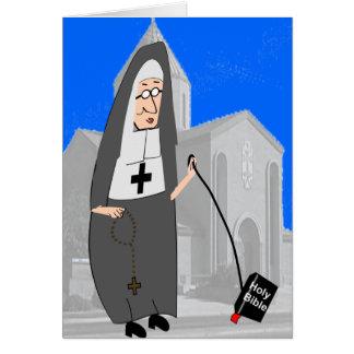 Cartões engraçados da freira