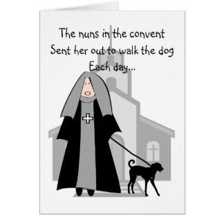 """Cartões engraçados da freira católica """"que andam o"""
