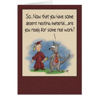 Cartões engraçados da graduação: Material do