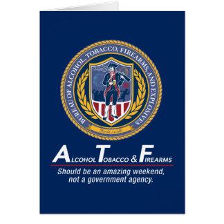 Cartões engraçados do costume do ATF
