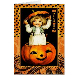 Cartões engraçados do Dia das Bruxas do miúdo do