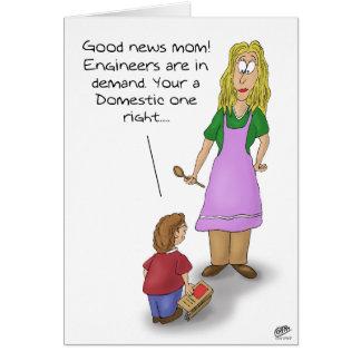 Cartões engraçados do dia das mães: Engenheiro