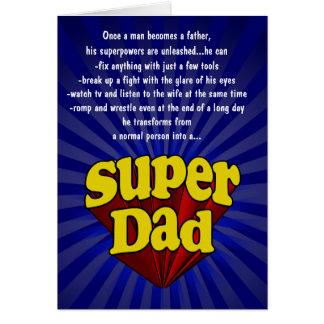 Cartões engraçados do dia dos pais, pai super