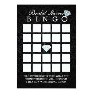 Cartões escuros do Bingo do chá de panela do Convite 8.89 X 12.7cm