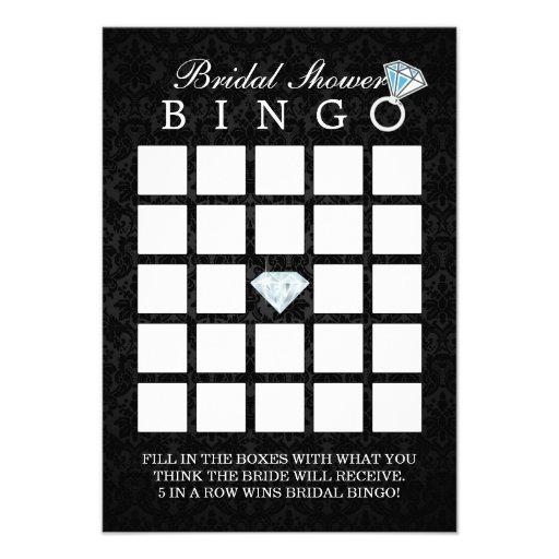 Cartões escuros do Bingo do chá de panela do diama Convites Personalizados