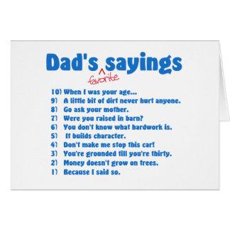 Cartões favoritos dos provérbios dos pais