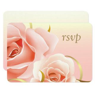 Cartões feitos sob encomenda do design elegante convite 8.89 x 12.7cm