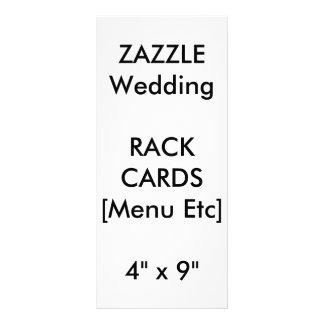 Cartões feitos sob encomenda do menu & de programa 10.16 x 22.86cm panfleto