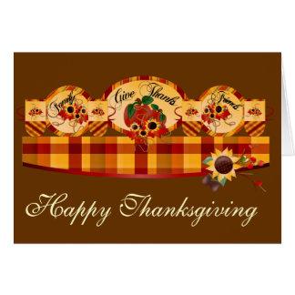 Cartões felizes da acção de graças