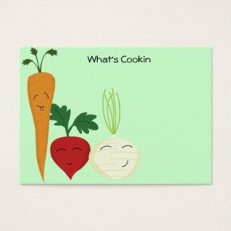 Cartões felizes da receita do vegetariano