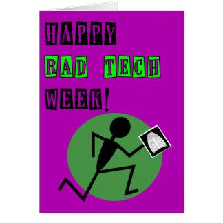 Cartões felizes da semana da tecnologia do Rad