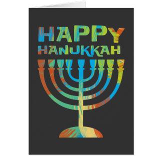 Cartões felizes de Hanukkah Menorah