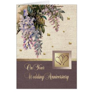 Cartões felizes do aniversário de casamento