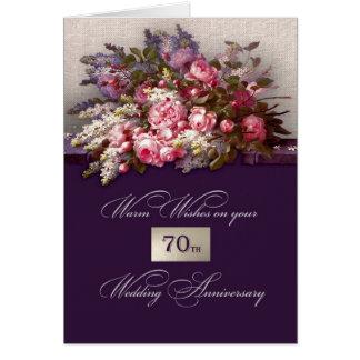 Cartões felizes do aniversário de casamento do 70