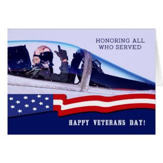 Cartões felizes do costume do dia de veteranos