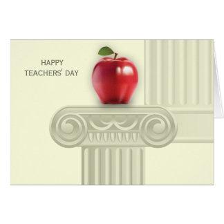 Cartões felizes do costume do dia dos professores