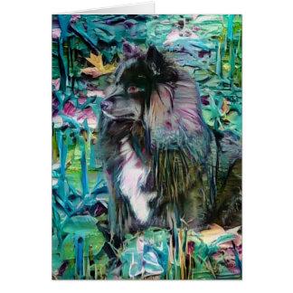 Cartões finlandeses da arte de IHANA Lapphund
