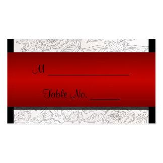 Cartões finos boémios vermelhos brancos pretos do cartão de visita