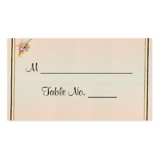 Cartões finos do lugar do casamento da aguarela da cartão de visita