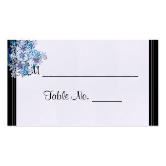 Cartões finos do lugar do casamento da árvore cartão de visita